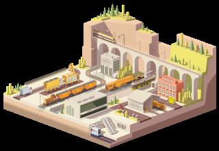 Une palette de 12 métiers<br /> couvrant tout le cycle de vie<br /> des infrastructures ferroviaires